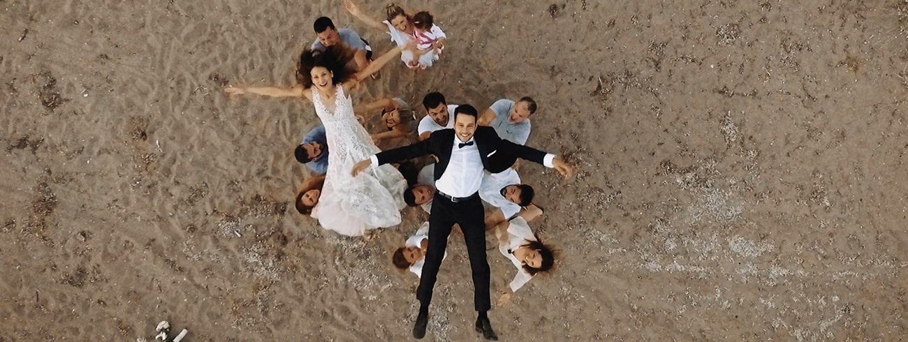Destination Wedding Filmmaker shooting a Wedding in Greece