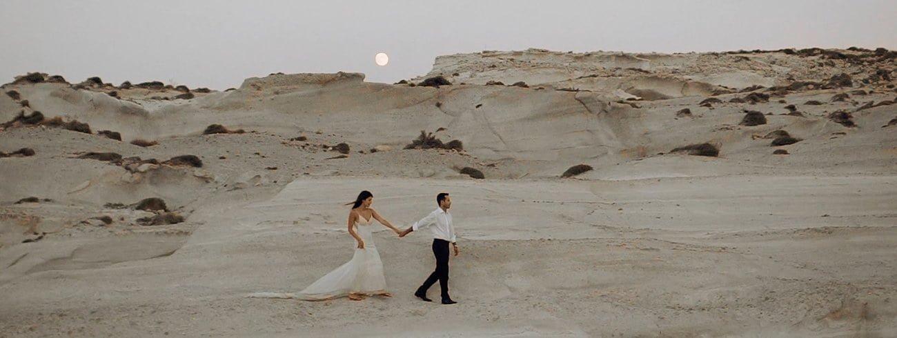 Destination Wedding Filmmaker shooting a Wedding in Milos