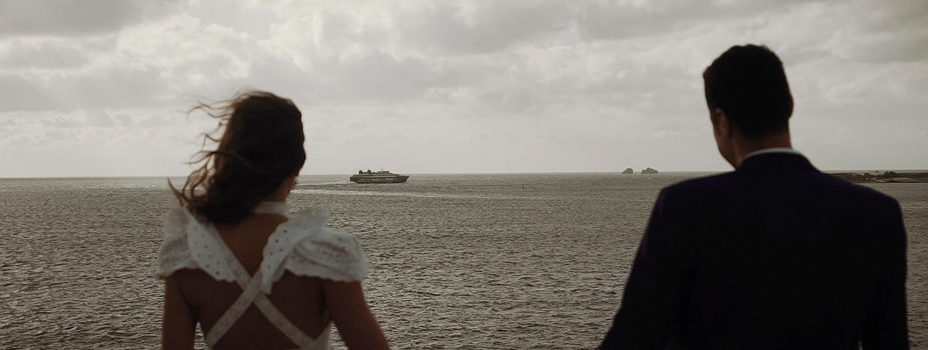 Destination Wedding Filmmaker shooting a Wedding in Paros