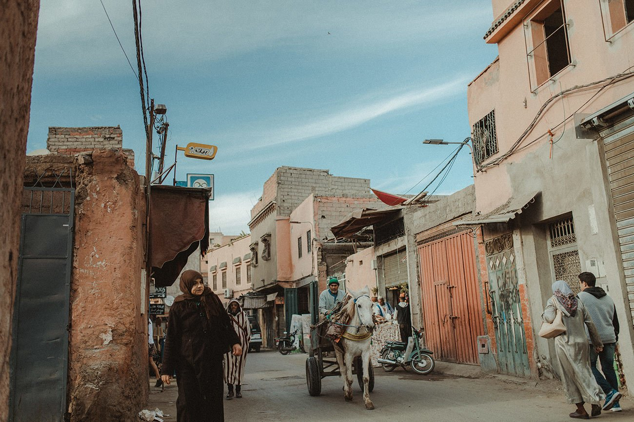 The streets of Marrakech before the wedding