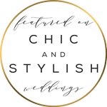 featured on chic & stylish weddings blog