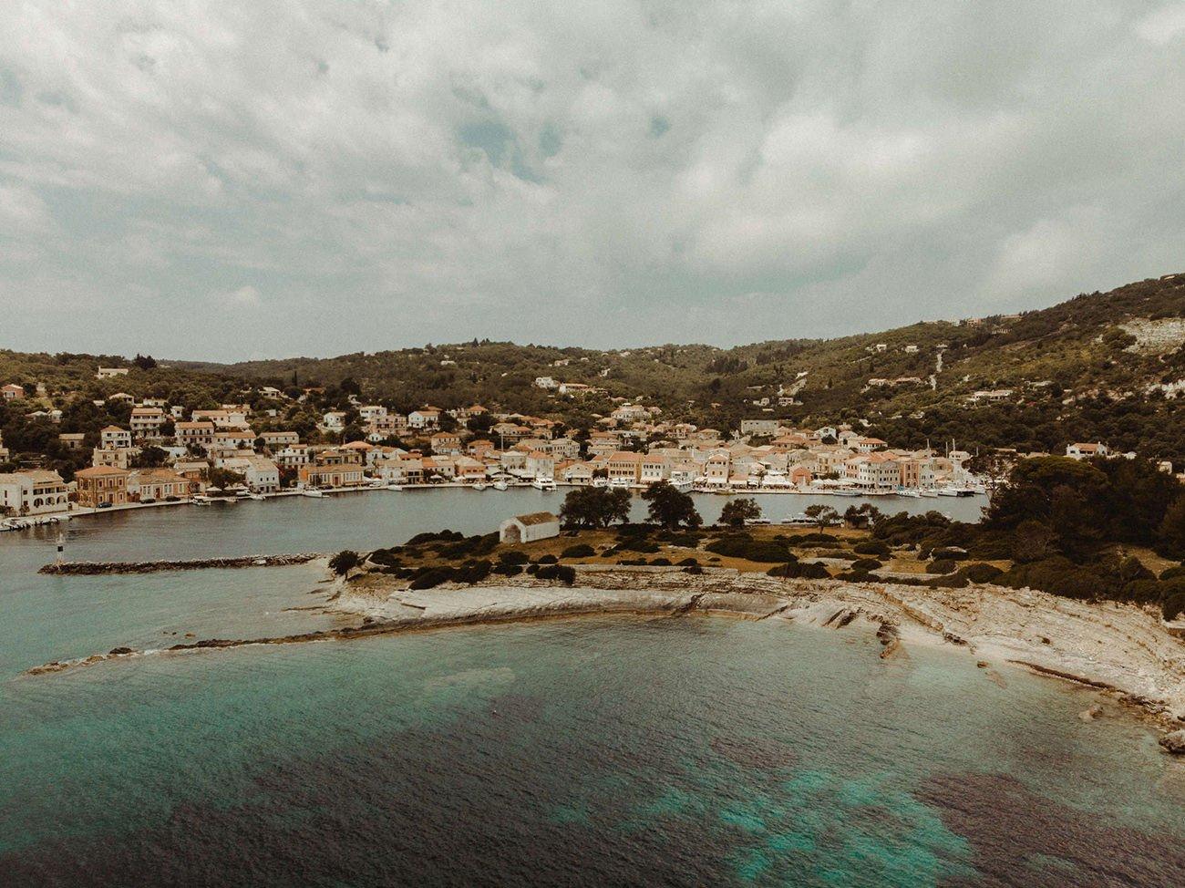 Breathtaking aerial view of Paxos island