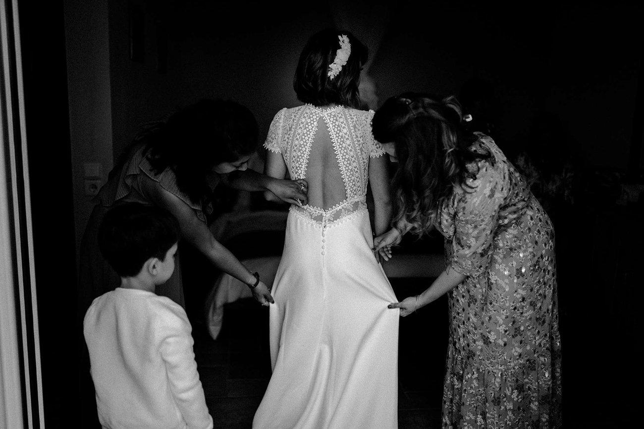 Lebanese destination Wedding in Paxos bride's preparations filmed by Paxos Wedding Videographer