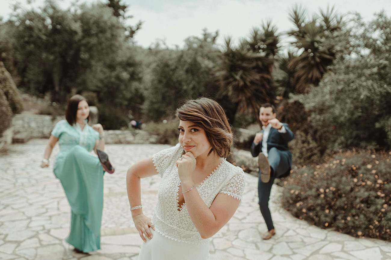 Lebanese destination Wedding in Paxos bride's family picture