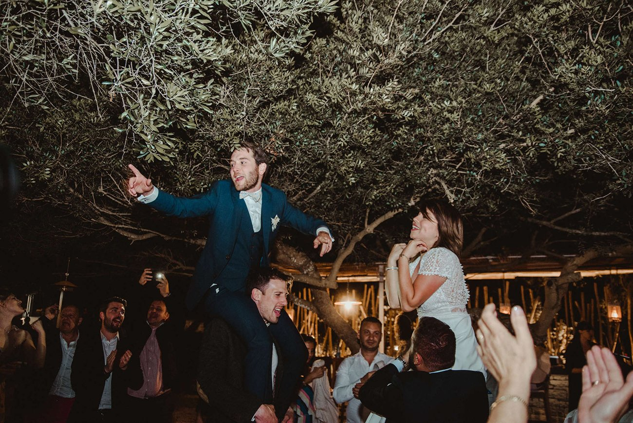 Getting the party started in a Paxos Lebanese destination Wedding