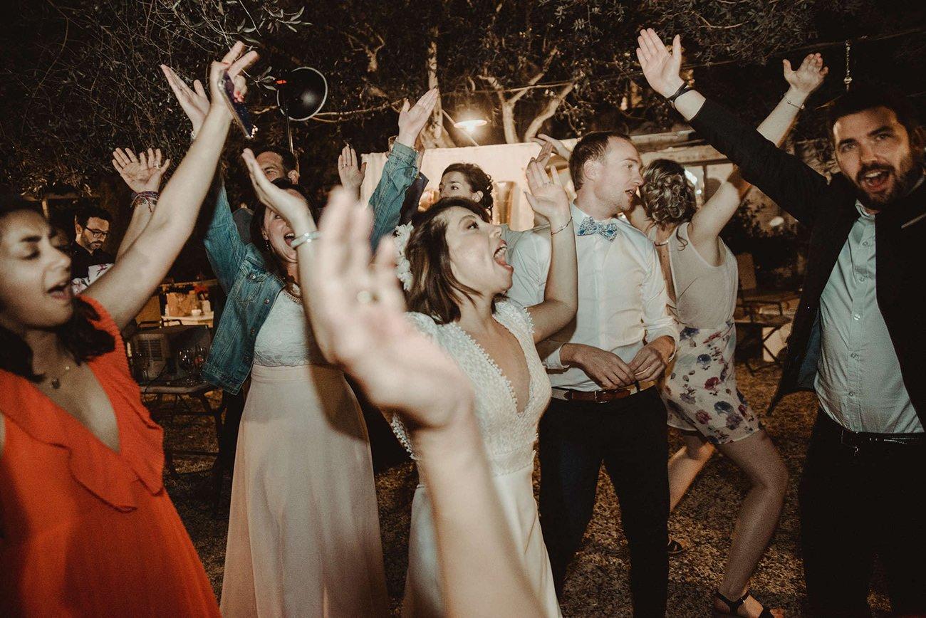 Party of a Paxos destination Lebanese Wedding