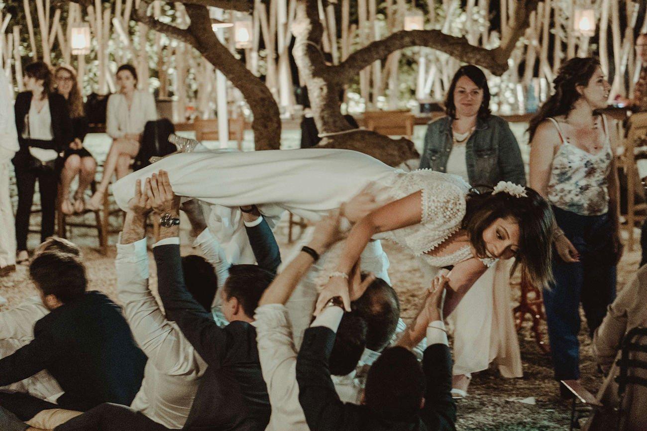 Party of a Paxos destination Wedding