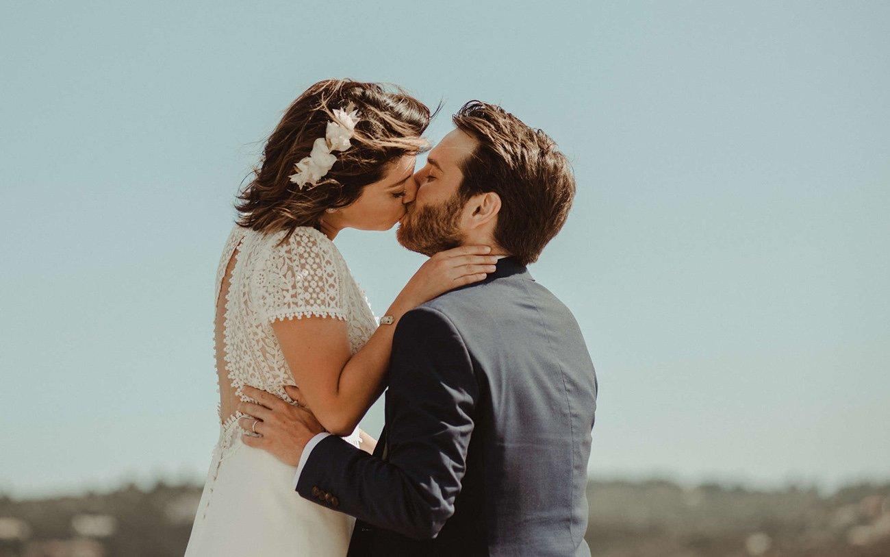 Paxos Wedding Videographer filming a couple for a destination Wedding in Paxos
