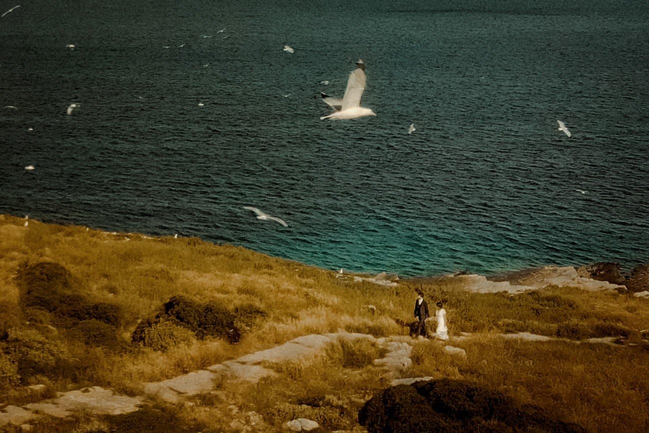 Aerial footage for a destination Wedding in Paxos
