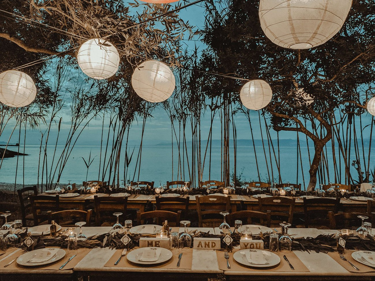 Wedding table Decoration in Paxos