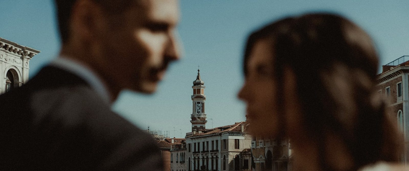 Venice Wedding Videographer filming wedding couple
