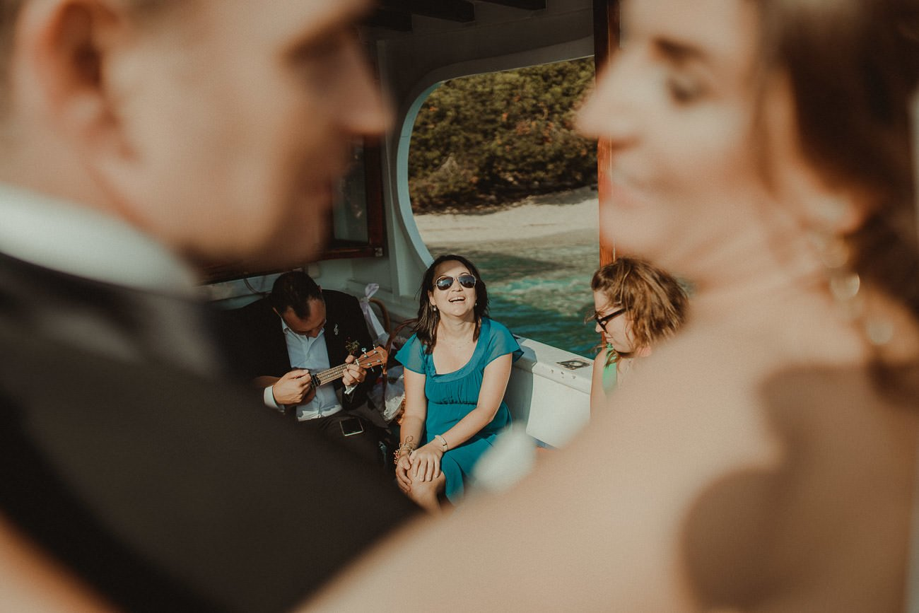 Wedding musicians for a sailing party in Lefkada