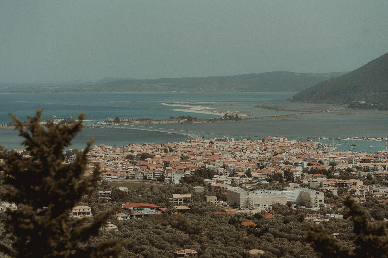 Stunning view of Lefkada from Villas Panorama wedding venue