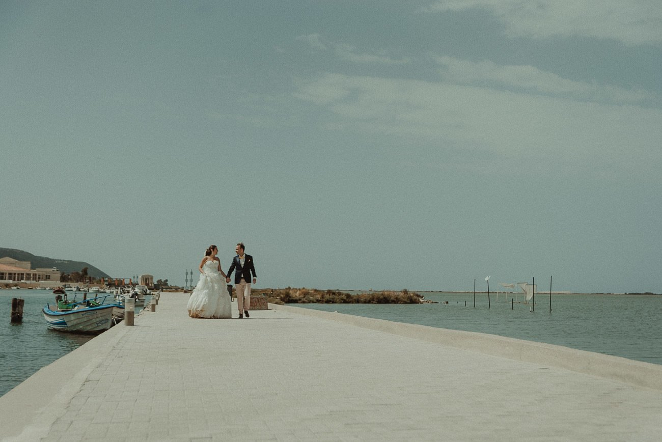 Lefkada wedding videographer filming couple after wedding session