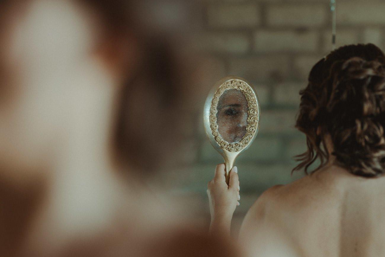 Lefkada wedding videographer filming bride getting ready