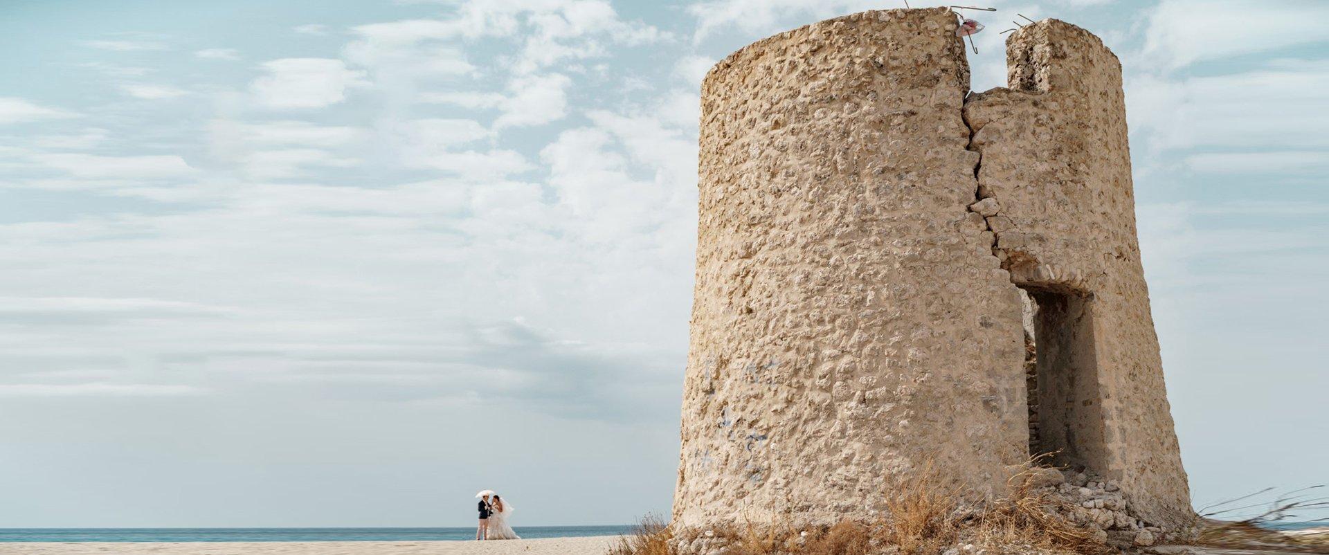 Lefkada Wedding Videographer filming a couple