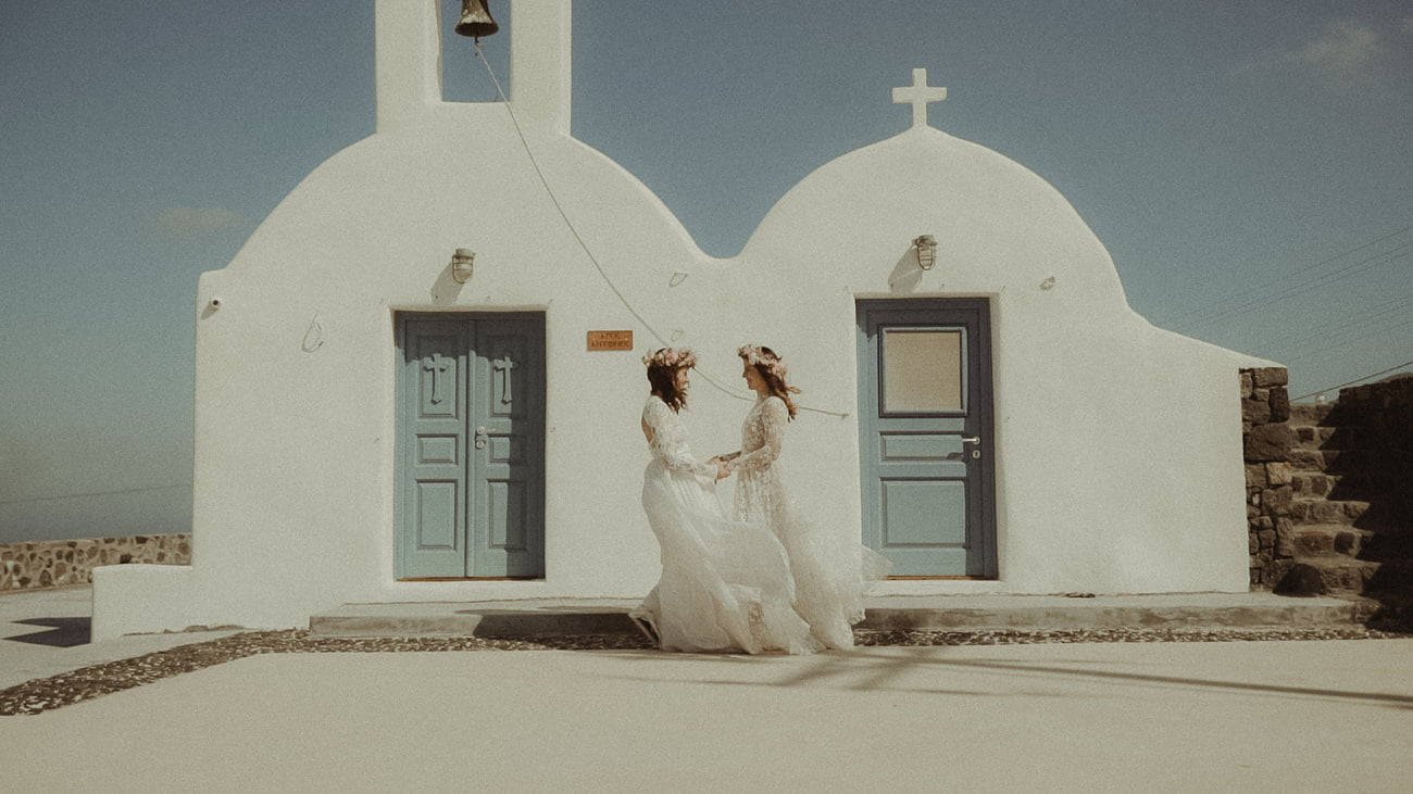 LGBTQ Same-Sex elopement in Santorini