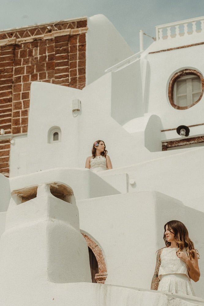 Same-Sex LGBT elopement in Oia Santorini