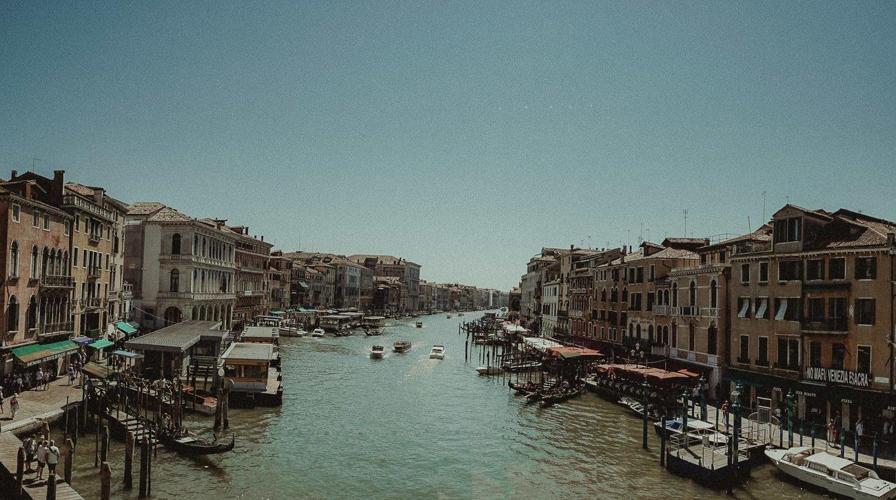 Venice wedding videographer filming Venetian panorama