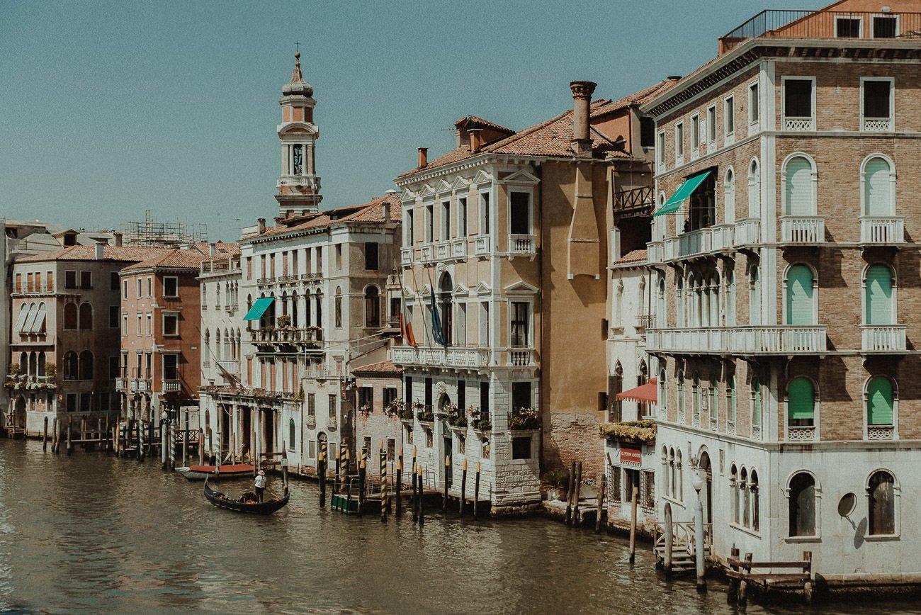 Venice wedding videographer filming Venice landscape