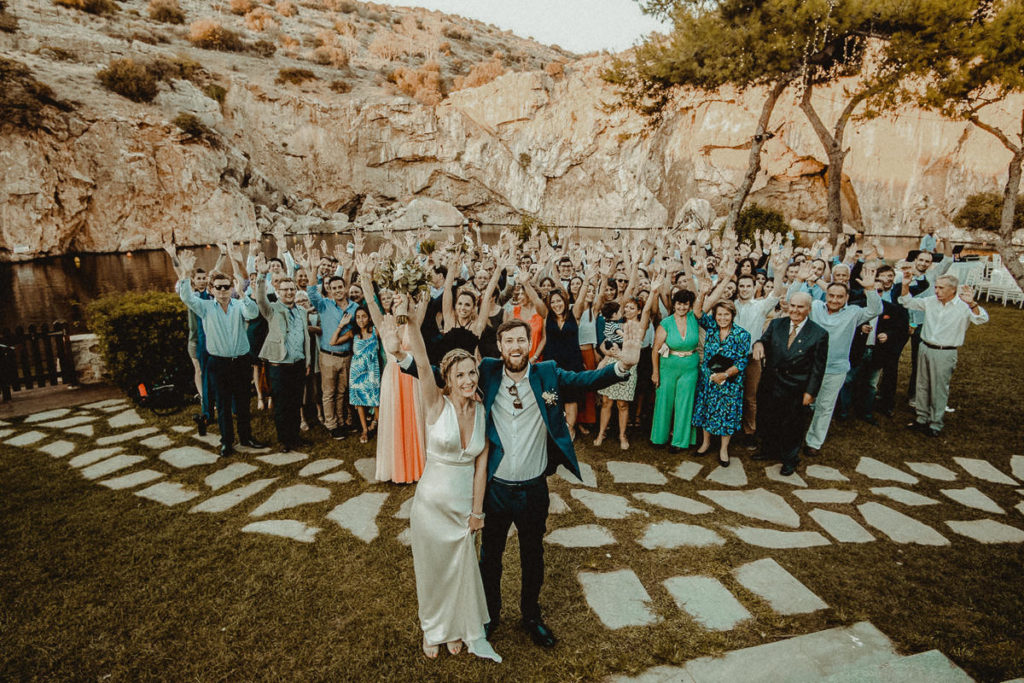 Destination Wedding in Lake Vouliagmeni
