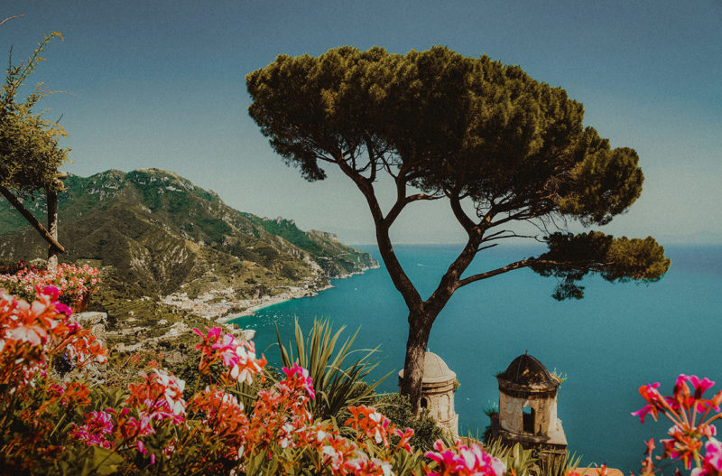 Gardens of Villa Rufolo in Ravello Amalfi Coast