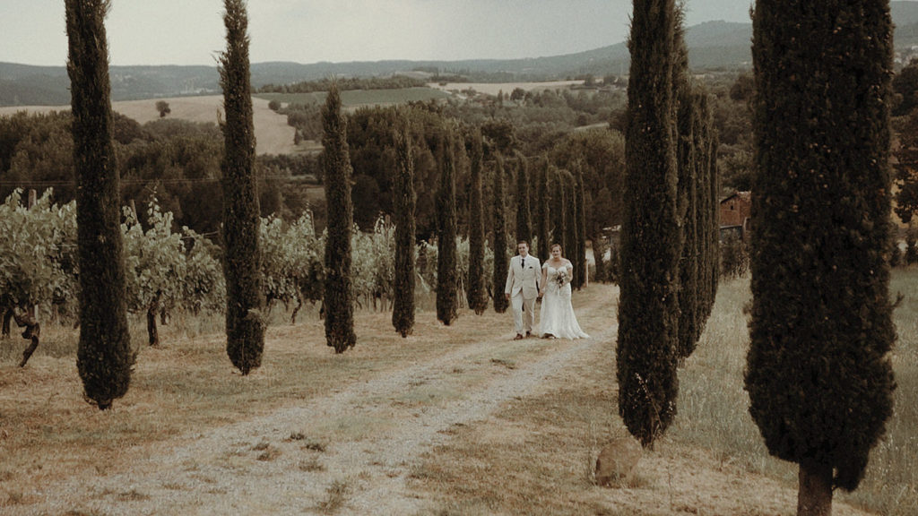 Umbria wedding videographer elopement in Villa Rey Countryhouse