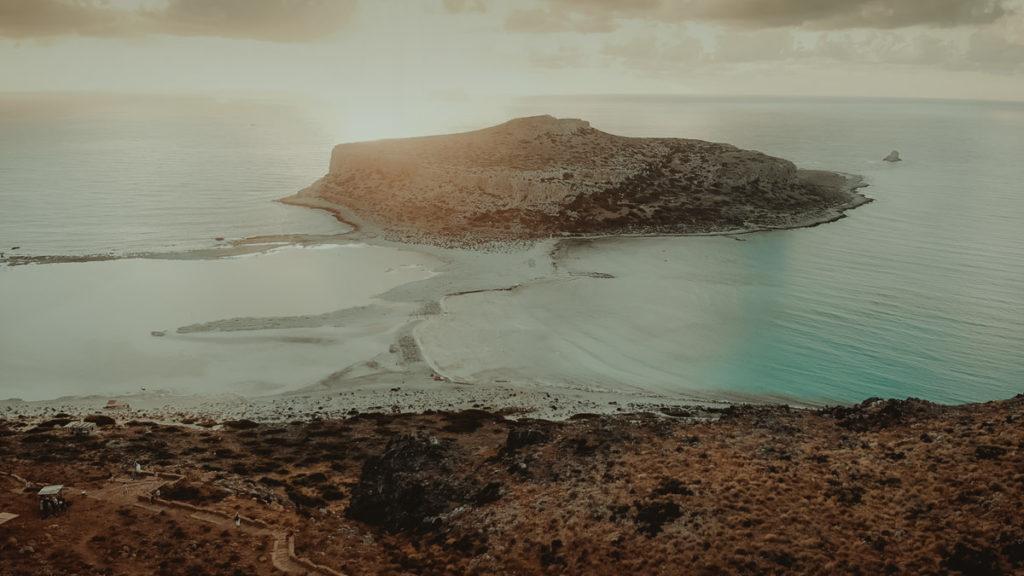 Balos Lagoon Crete Wedding Videographer an amazing spot to film an elopement