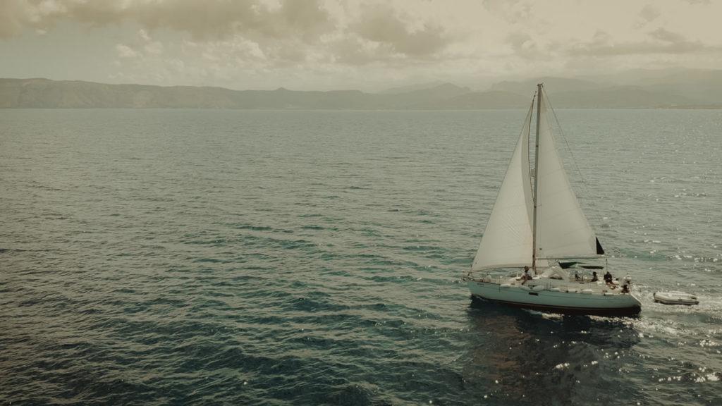 Sailing for a destination wedding in Crete