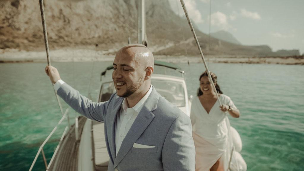 Crete Wedding Videographer filming a destination wedding