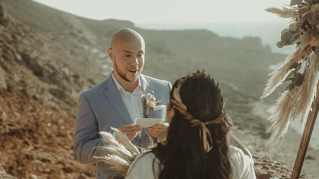 Elopement Wedding in Crete