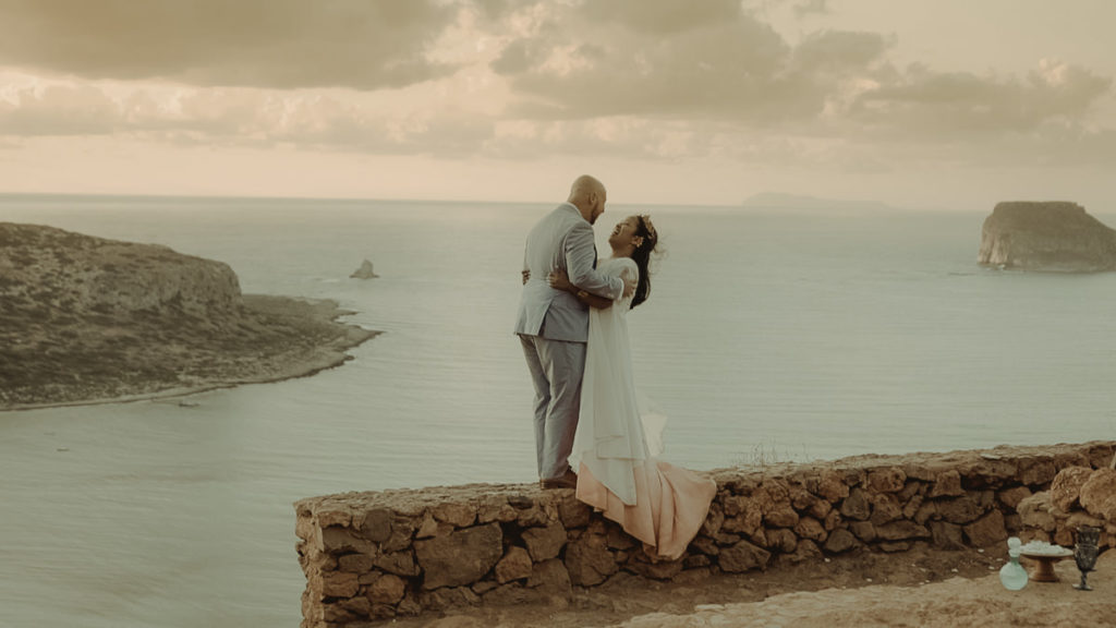 destination wedding in Balos lagoon