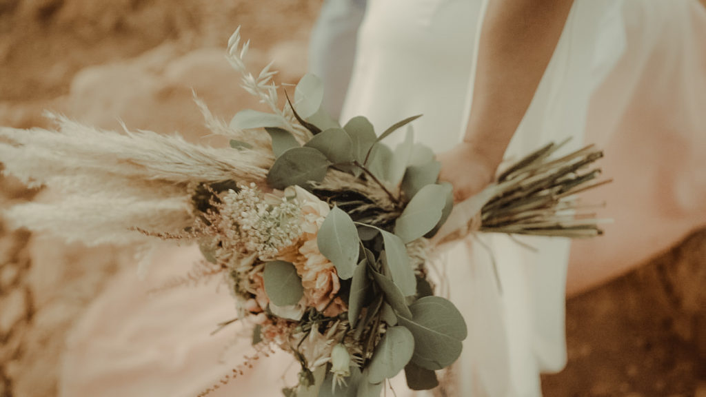 Wedding Bouquet for an elopement in Crete