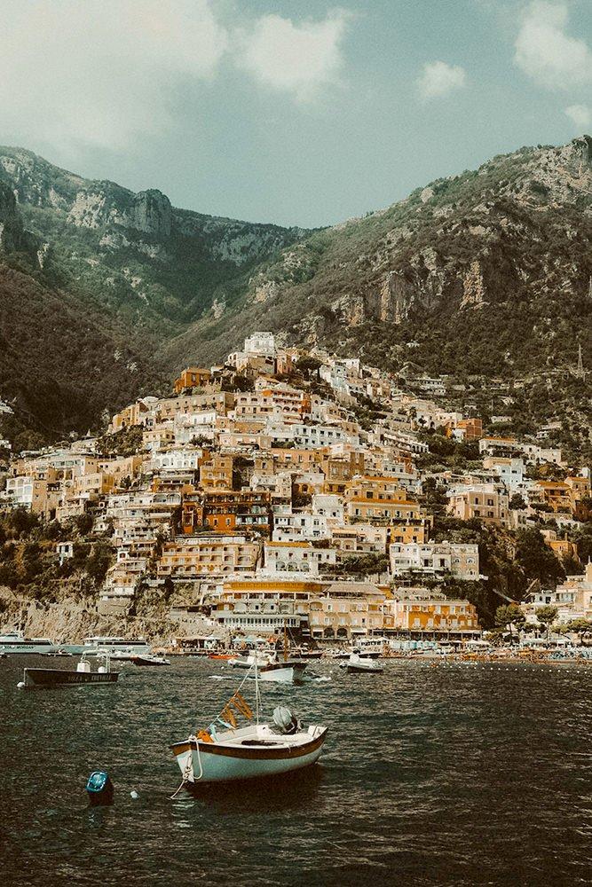 Stunning view of Positano