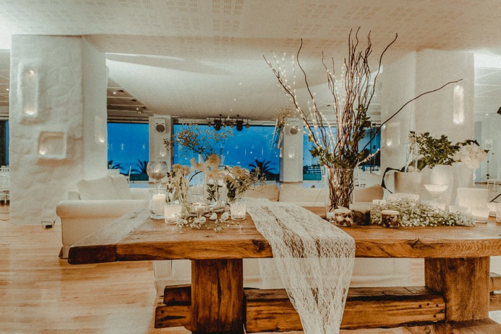 Interiors of Amaltheia The Place Wedding Venue in Athens Greece