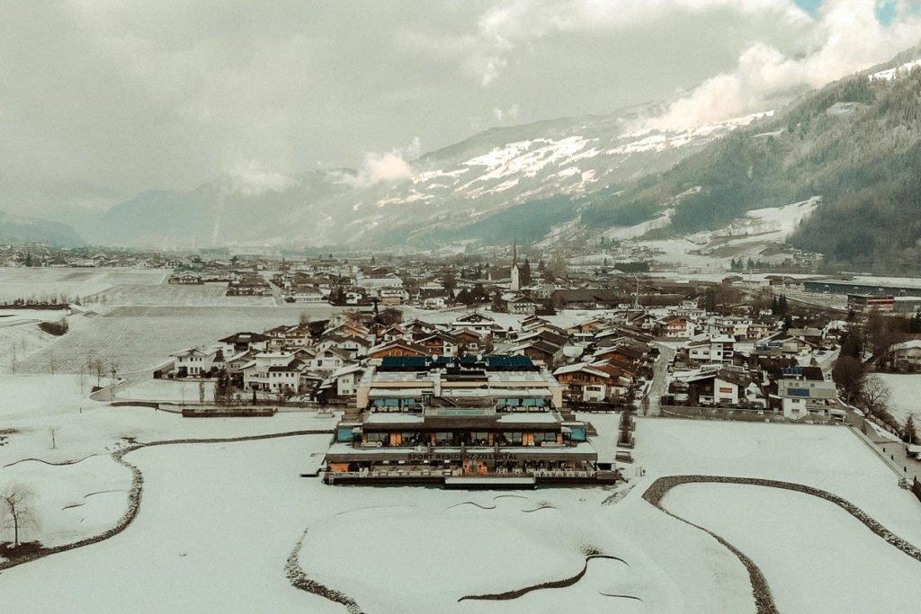 Winter landscape in Austrian alps Zillertal