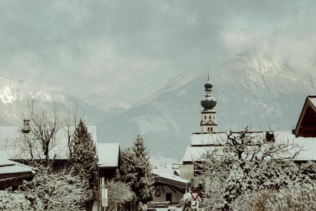 winter landscape in Reith im Alpbachtal Austrian alps