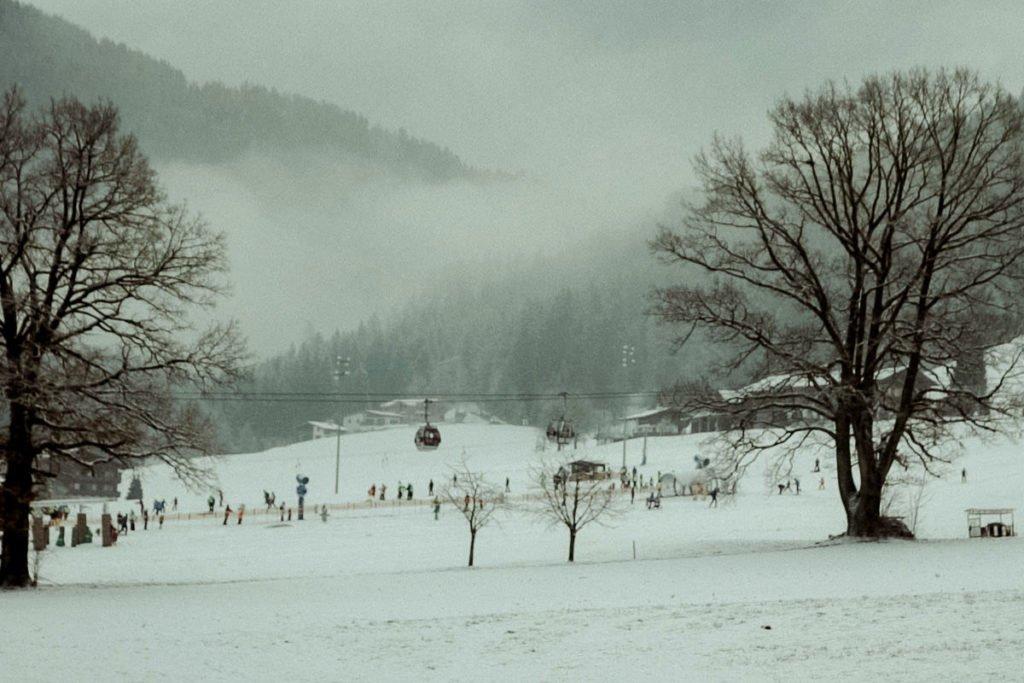 Winter landscape in Austrian alps Alpbach Tirol