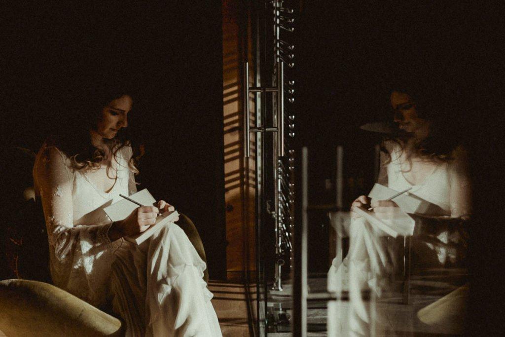 Austrian Alps wedding videographer filming winter elopement - Getting ready in Zillertal