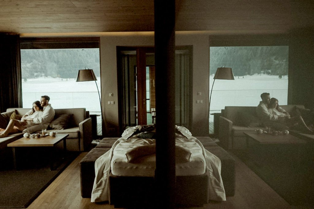 Austrian Alps wedding videographer filming winter elopement in Tirol - wedding video in Zillertal