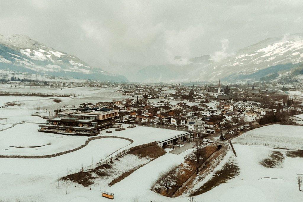 Austrian Alps wedding videographer filming winter elopement in Zillertal Tirol
