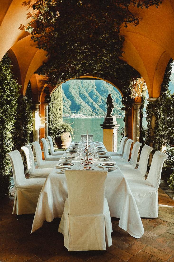 Wedding reception in Villa Cassinella