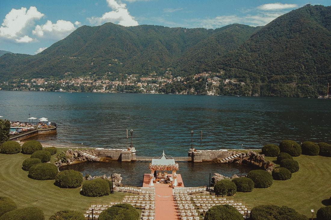 Best Wedding Venues in Cernobbio Villa Erba amazing wedding ceremony setup on lake Como