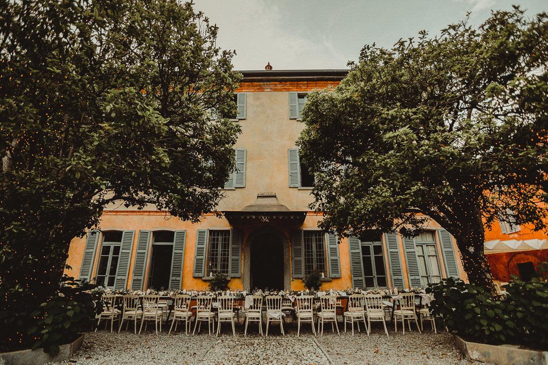 Terrace of the Regina Teodolinda Wedding Venue in Laglio Lake Como