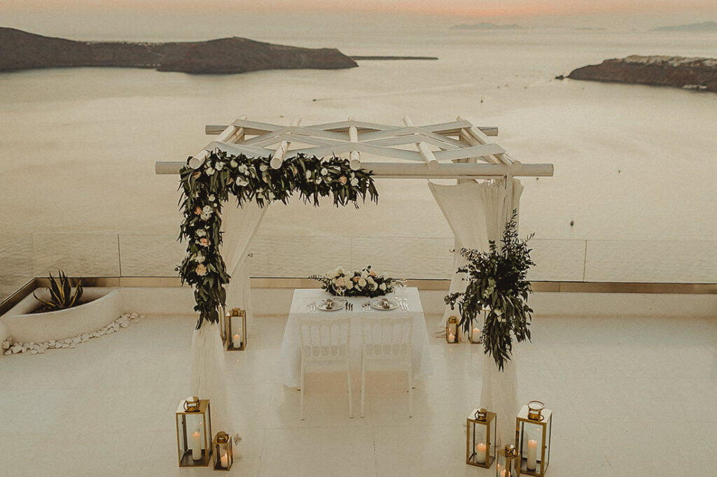Andromeda Villas is one of the best wedding venues in Imerovigli