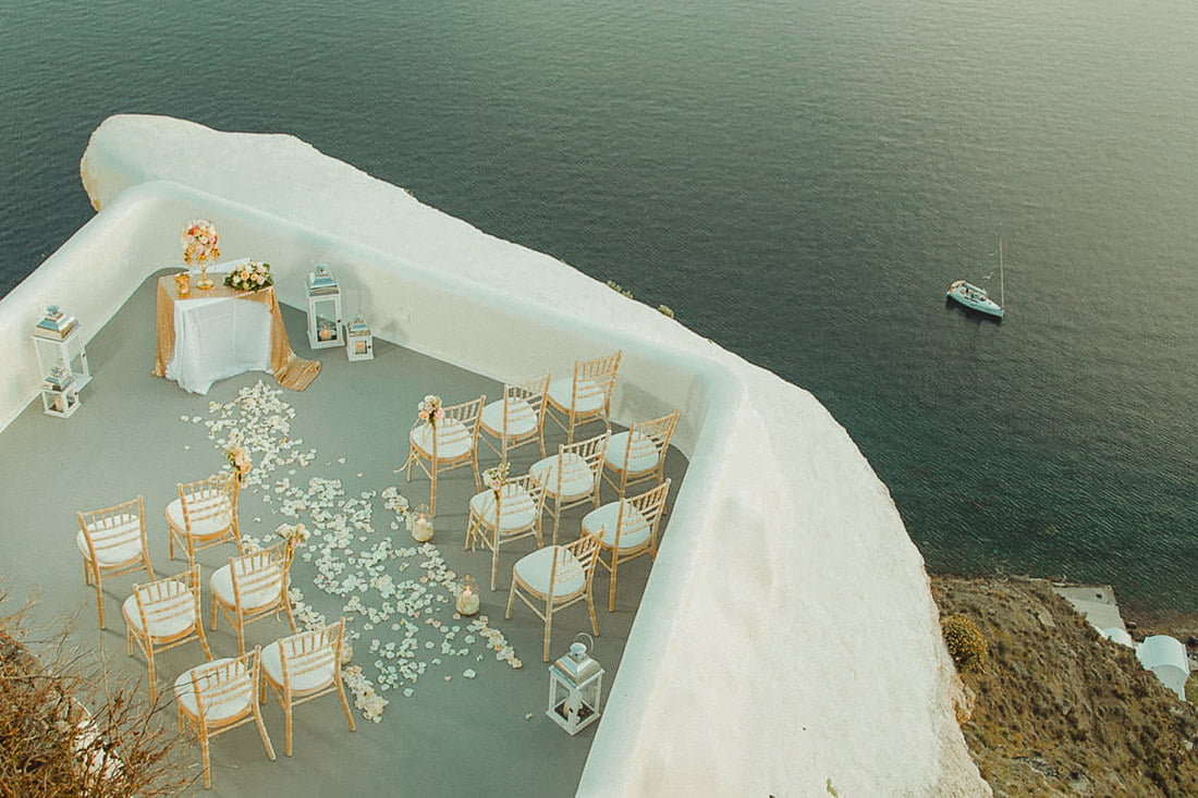 Terrace of Canaves Oia one of the top places to get married in Santorini Oia
