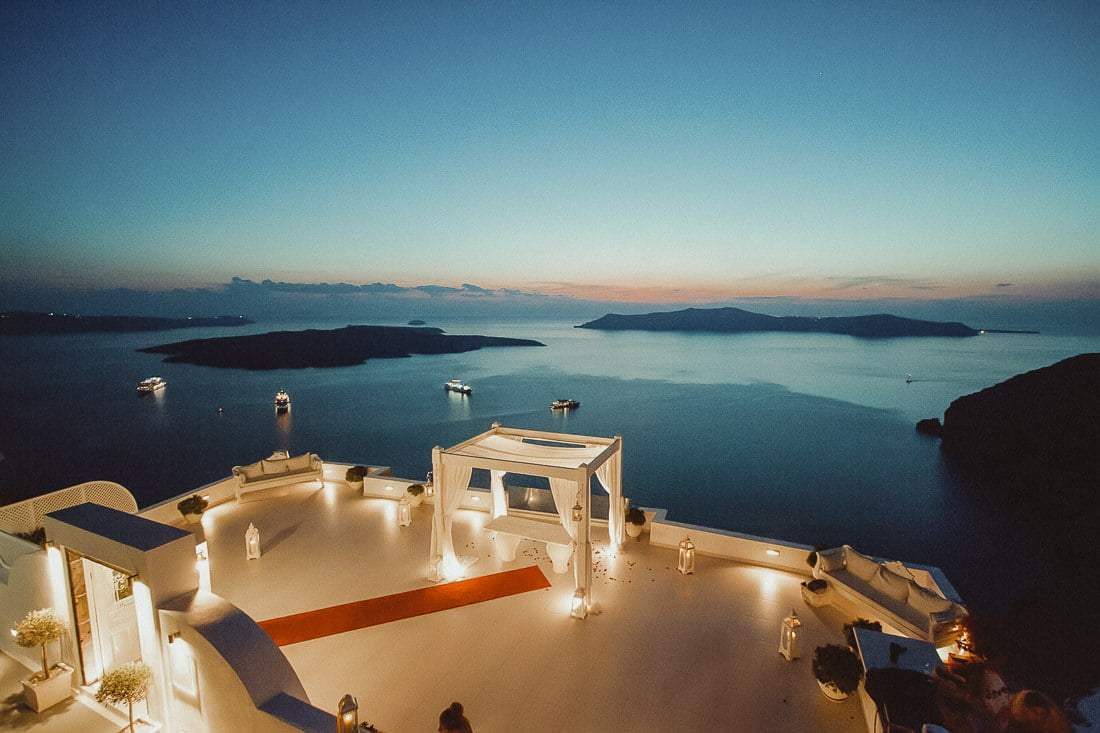 Stunning Dana Villas one of the Best places to get married in Santorini