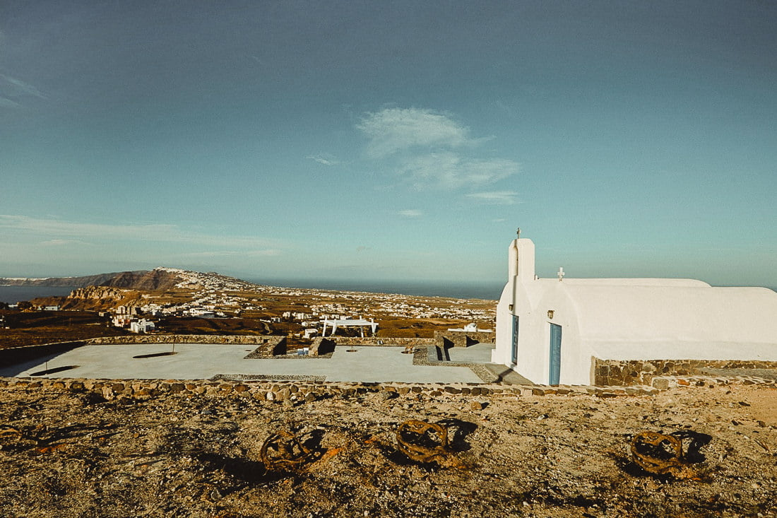 Panoramic view from top of the Saint Antonio Vineyard one of the best wedding venues in Pyrgos