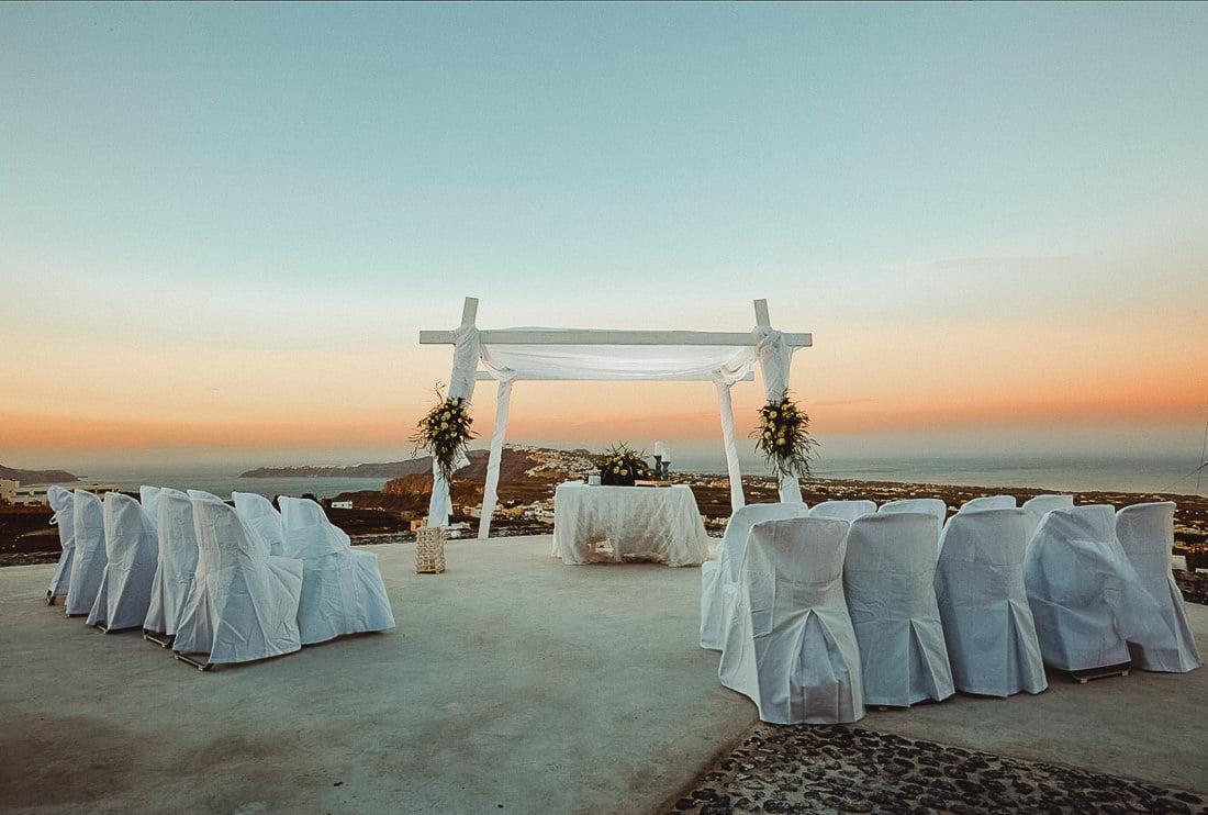 Saint Antonio Vineyard is one of the best places to get married in Santorini Pyrgos