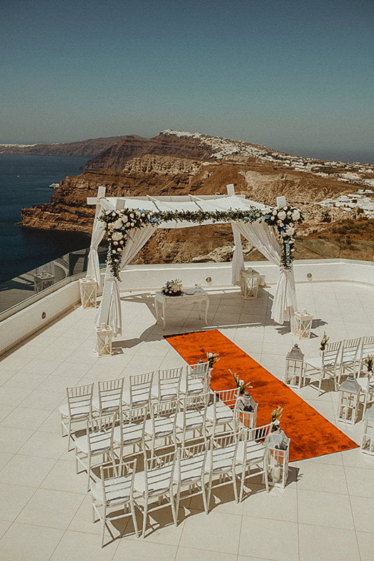 Santo Wines is one of the best places to get married in Santorini and the top wedding venues in Pyrgos
